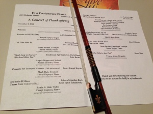 Program for the Fall Concert 2014