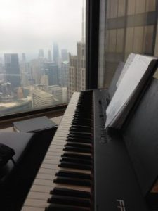 View from piano bench - 67th floor Willis Tower